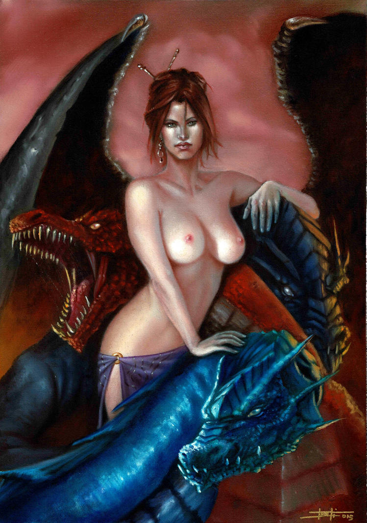 Lady with the Dragons 2 by LucaStrati