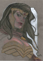 Wonder Woman Bust by LucaStrati