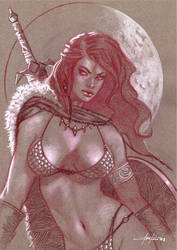 Red Sonja Bust by LucaStrati