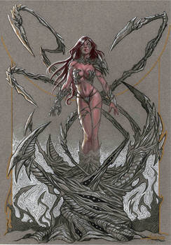 Witchblade on toned paper