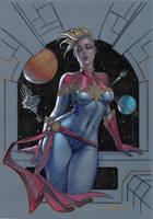 Stefania Ferrario Captain Marvel version by LucaStrati