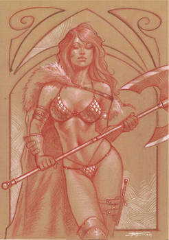 Red sonja toned commission