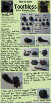 HTTYD Toothless Clay Tutorial