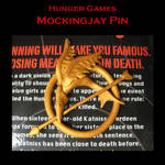 Hunger Games Mockingjay Pin by LightningMcTurner