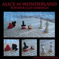 Alice in Wonderland Earrings by LightningMcTurner