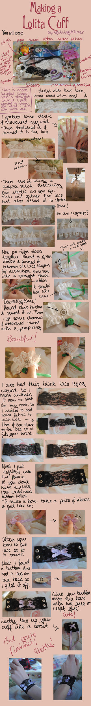 Lolita Cuff Tutorial by LightningMcTurner