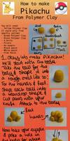 Pikachu Polymer Clay Tutorial by LightningMcTurner