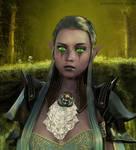 Astrid Nightelf by greendragon-gecko