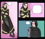 Loki and Bucky