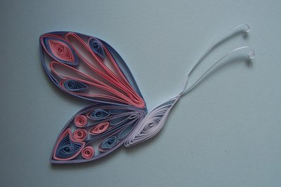 Quilled butterfly +moved+