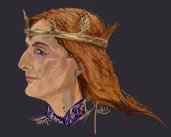 David Tennant as Richard II - Study by kaupaint