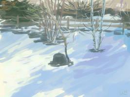 Speedpaint - Sun on Snow - Jan 8th 2020