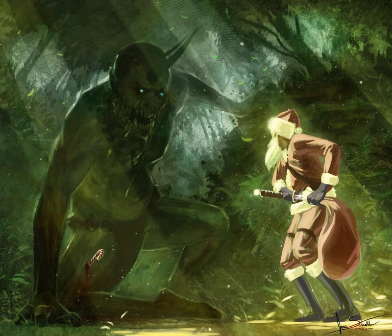 Random Picture Thread Zombie_ogre_vs_santa_by_jameswolf