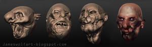 Horror Heads Sculptris Small