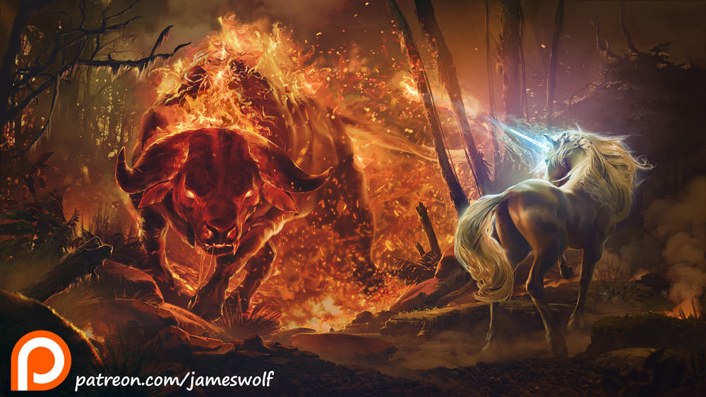 King Haggards Red Bull  by jameswolf