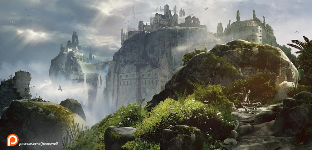 forgotten castle ruins S