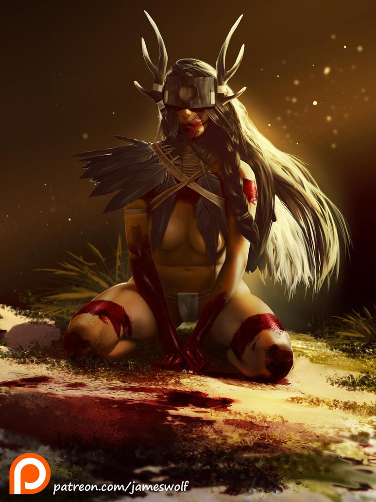 sacrifice pinup S by jameswolf