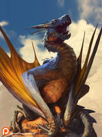 Sunbathing Dragon Final S by jameswolf