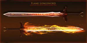 Flame sword by Bing0ne
