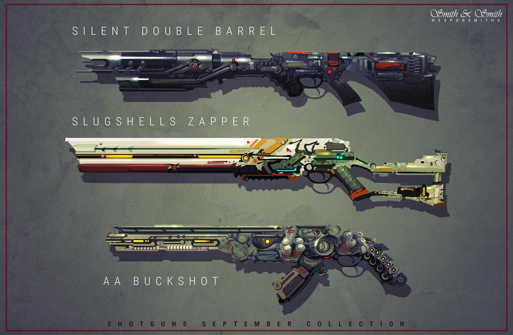 Shotguns by Bing0ne