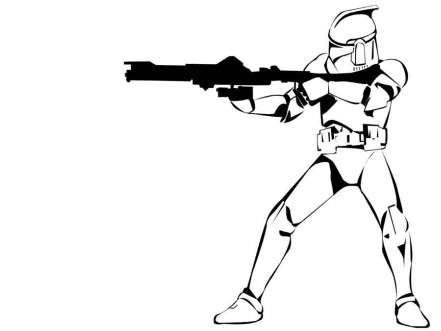 Easy Clone Wars Coloring Page