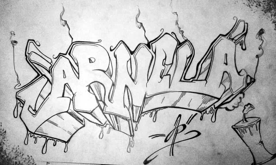 Arnela Pencil Graffiti By Mary11dc On Deviantart