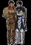 Kaidan [OC] + Cassandra : Commission