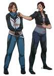 Odile Ryder [OC] + Clara Shepard [OC] : Commission