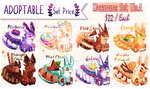[OPEN] Adoptable Cute Monster Food Macarons Set 1 by HalfChe
