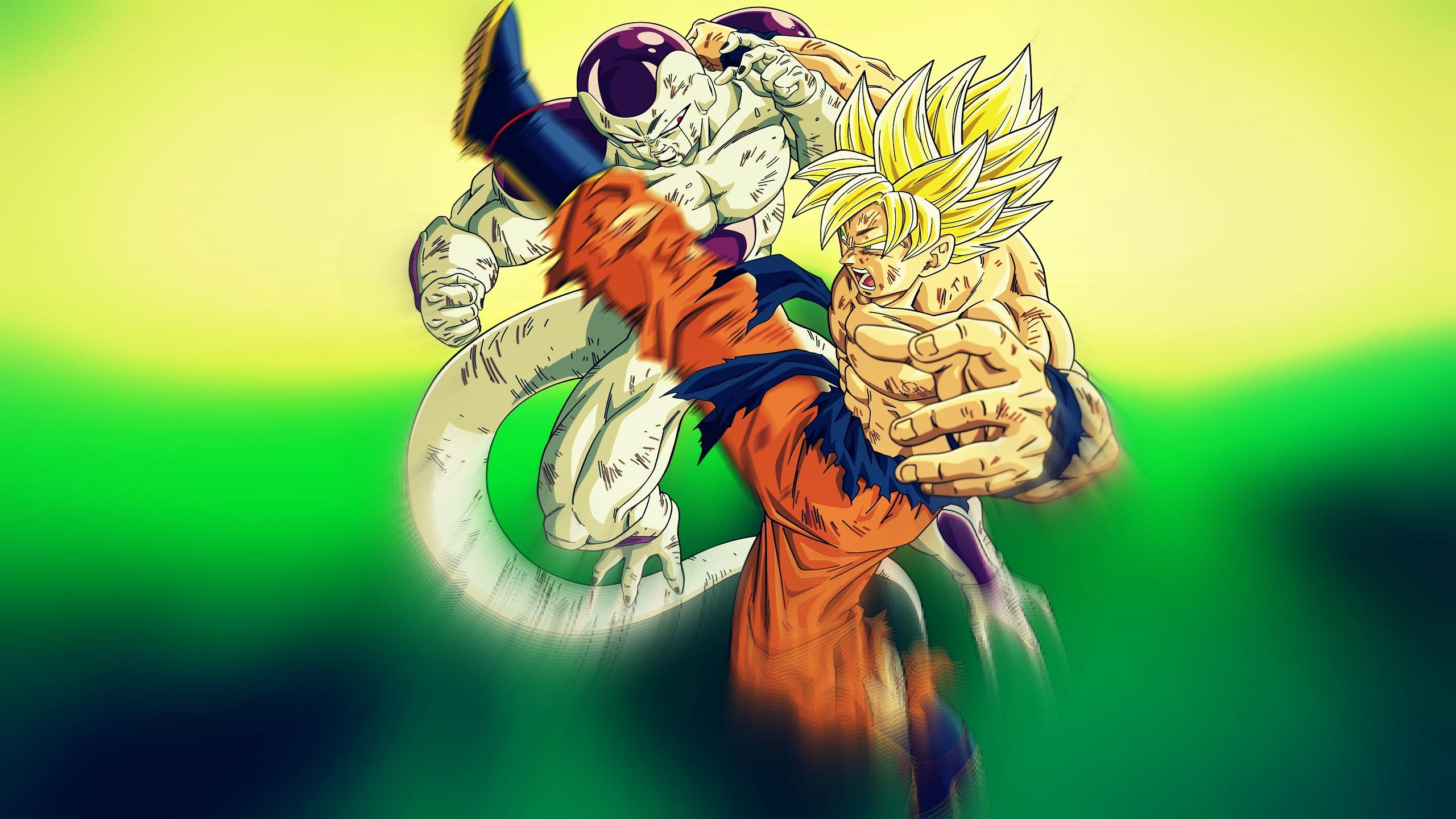 Dragonball Z Goku Vs Frieza 2k Wallpaper By Blackshadowx306