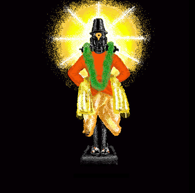 lord vitthal by sajjangad digital art drawings paintings other 2008