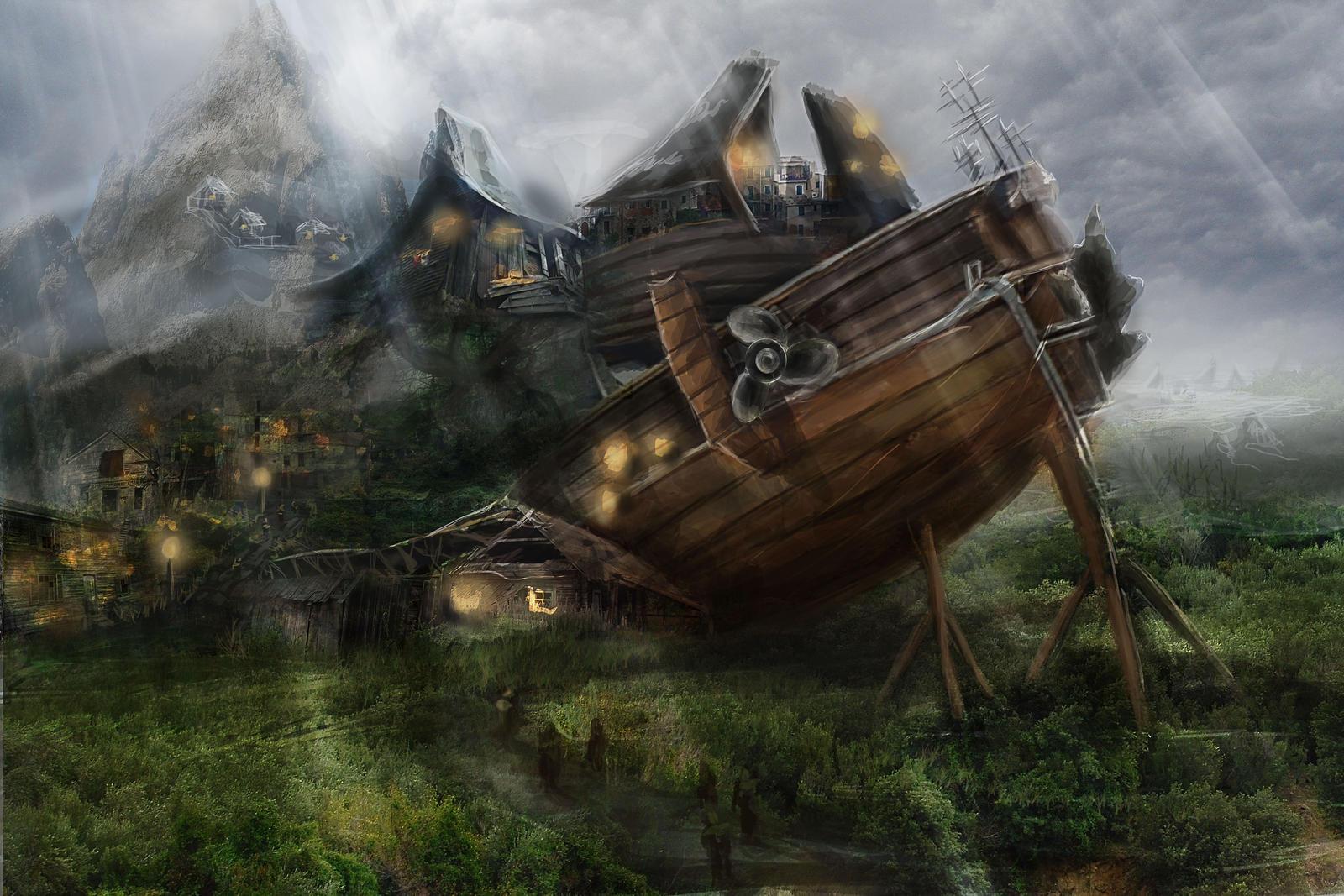 Boat Town by TwistedPurple
