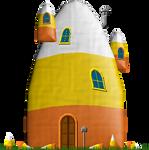 Candy Corn House by Herbertrocha