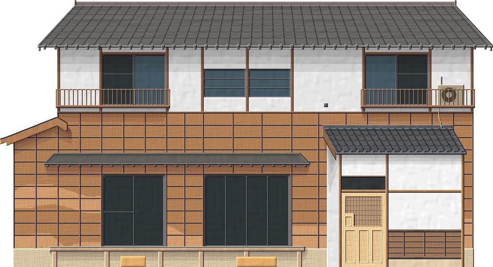 Old japanese house by herbertrocha on deviantart for Classic japanese house