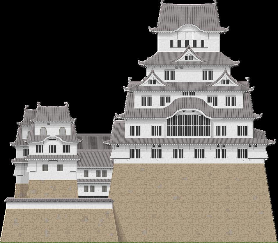 Himeji Castle by Herbertrocha