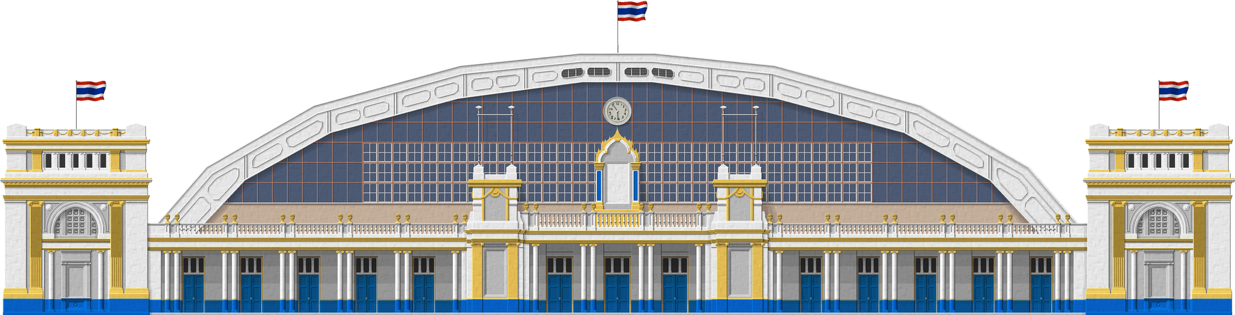 Bangkok Railway Station by Herbertrocha
