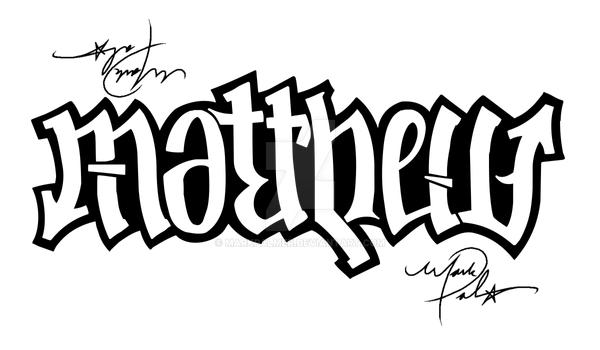 Matthew And Andrew Ambigram By MarkPalmer