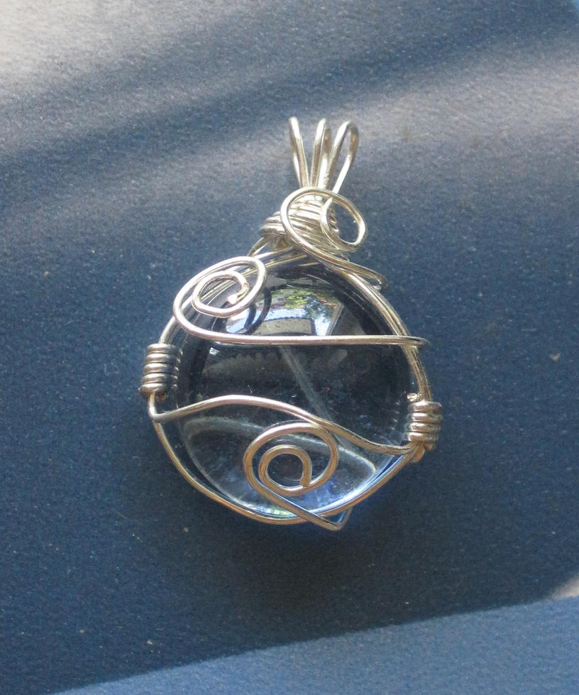 blue wire wrapped pendant 2 by lalalura on deviantart