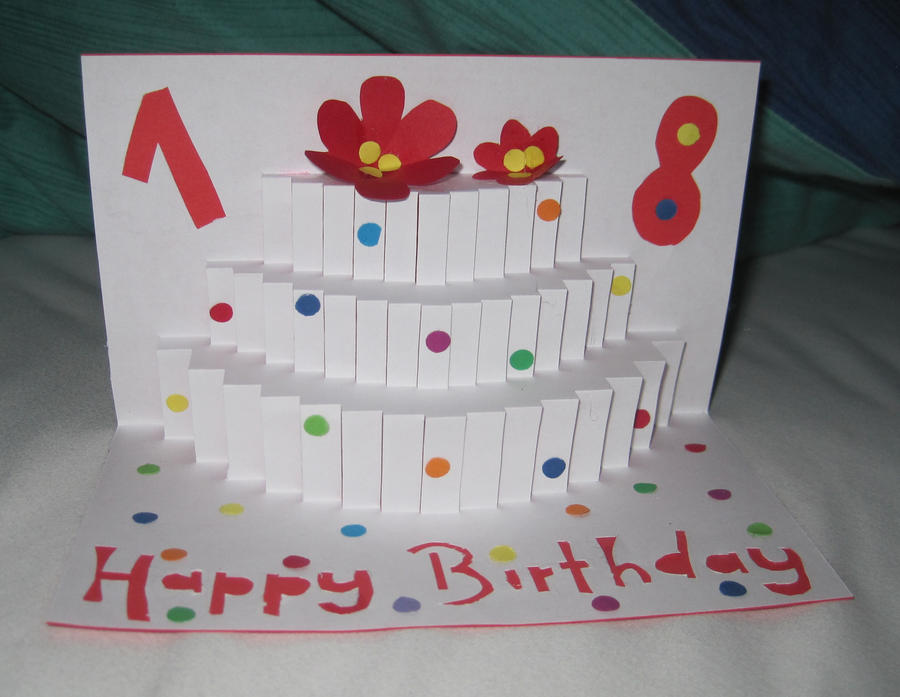 popup birthday card by lalalura on deviantart, Birthday card