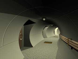 Curved Corridor by felixplesoianu