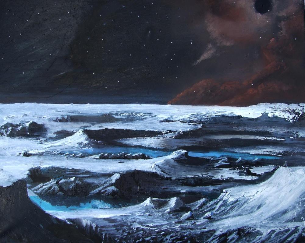 Space oil painting by PeterAJ