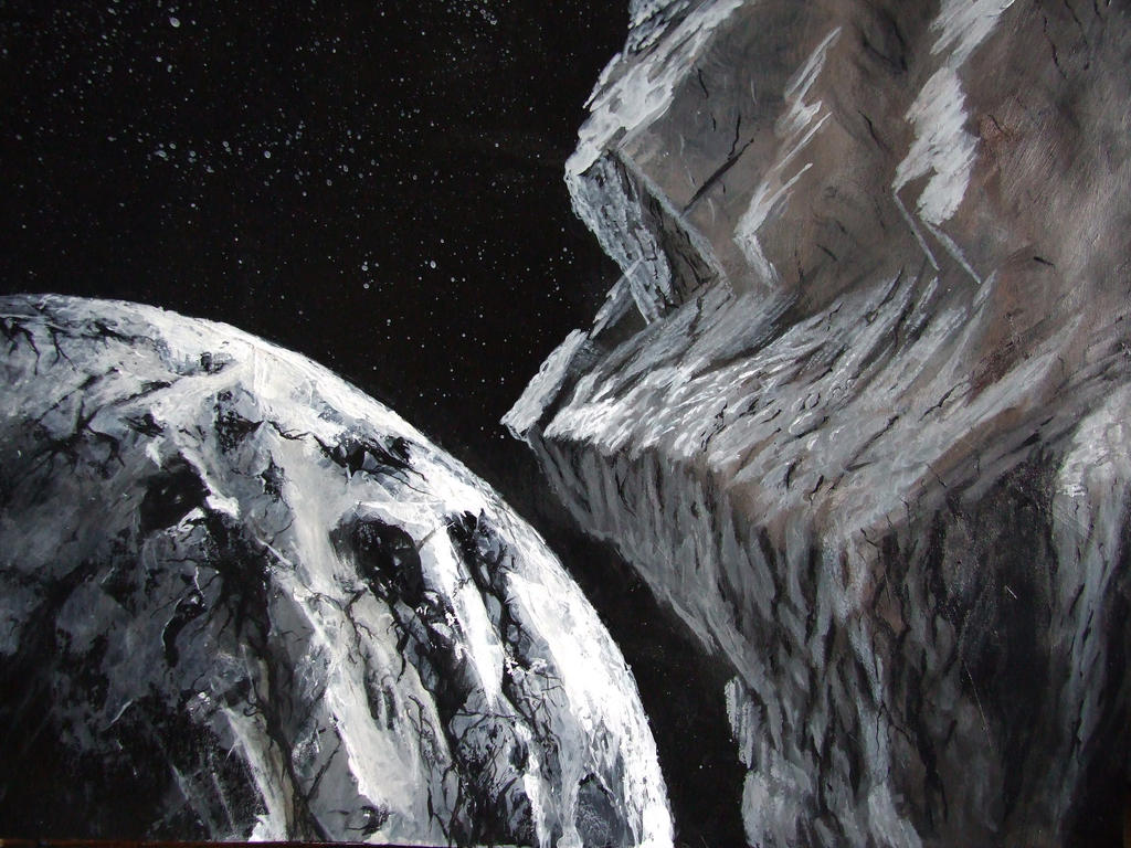 Acrylic space painting by PeterAJ