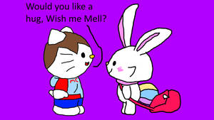 Offering Wish Me Mell a hug