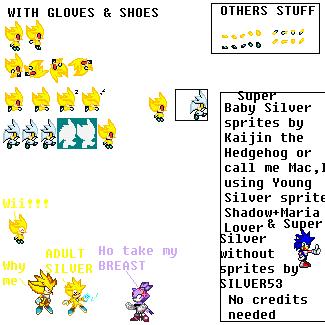 Silver The Hedgehog Sprites