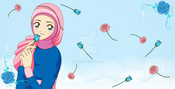Romantic Blue Rose by tieq