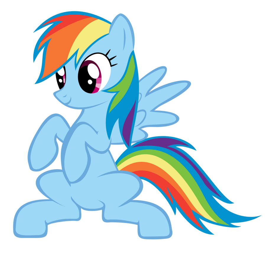 Rainbow Dash Standing [Vector] by Afkrobot