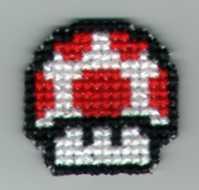 Super Mario 3 Mushroom by StitchPlease