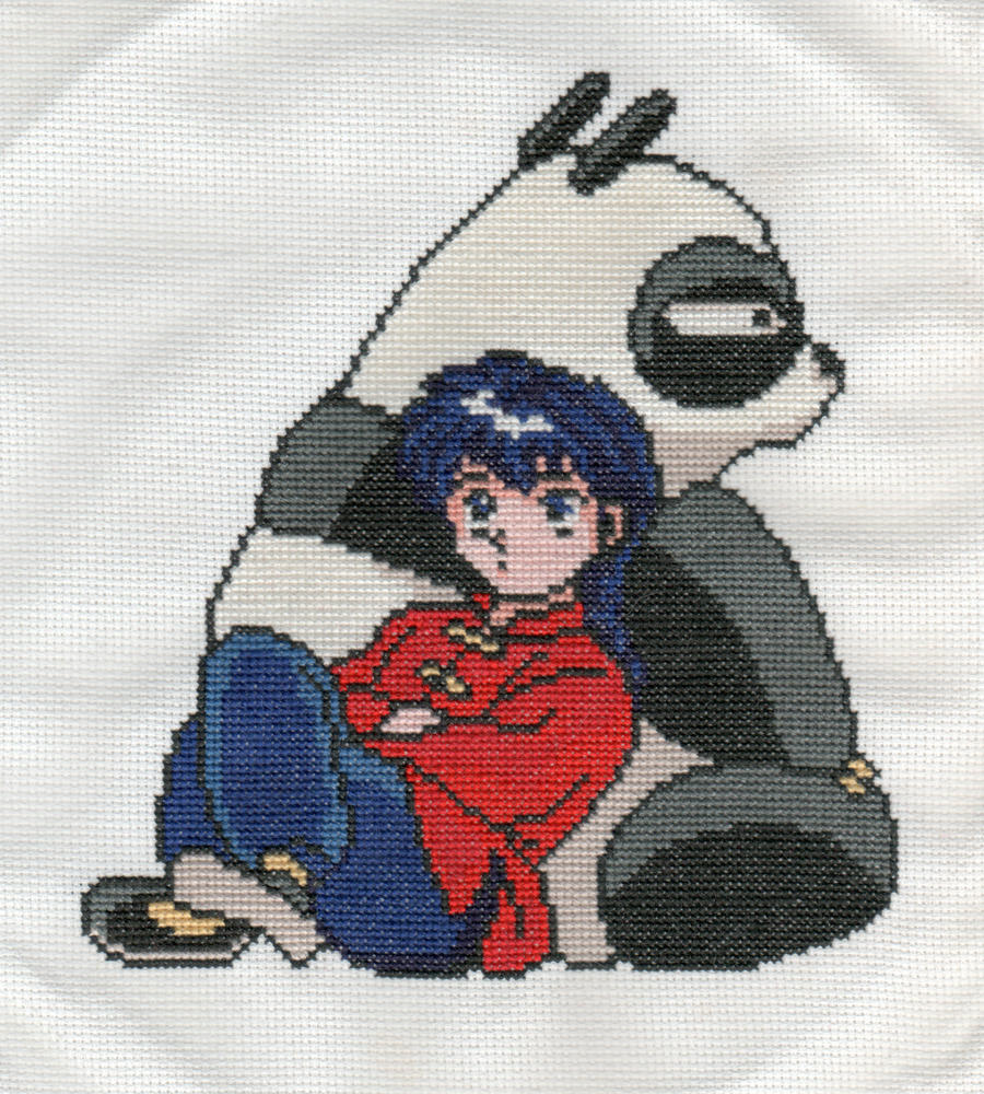 Ranma and Genma by StitchPlease