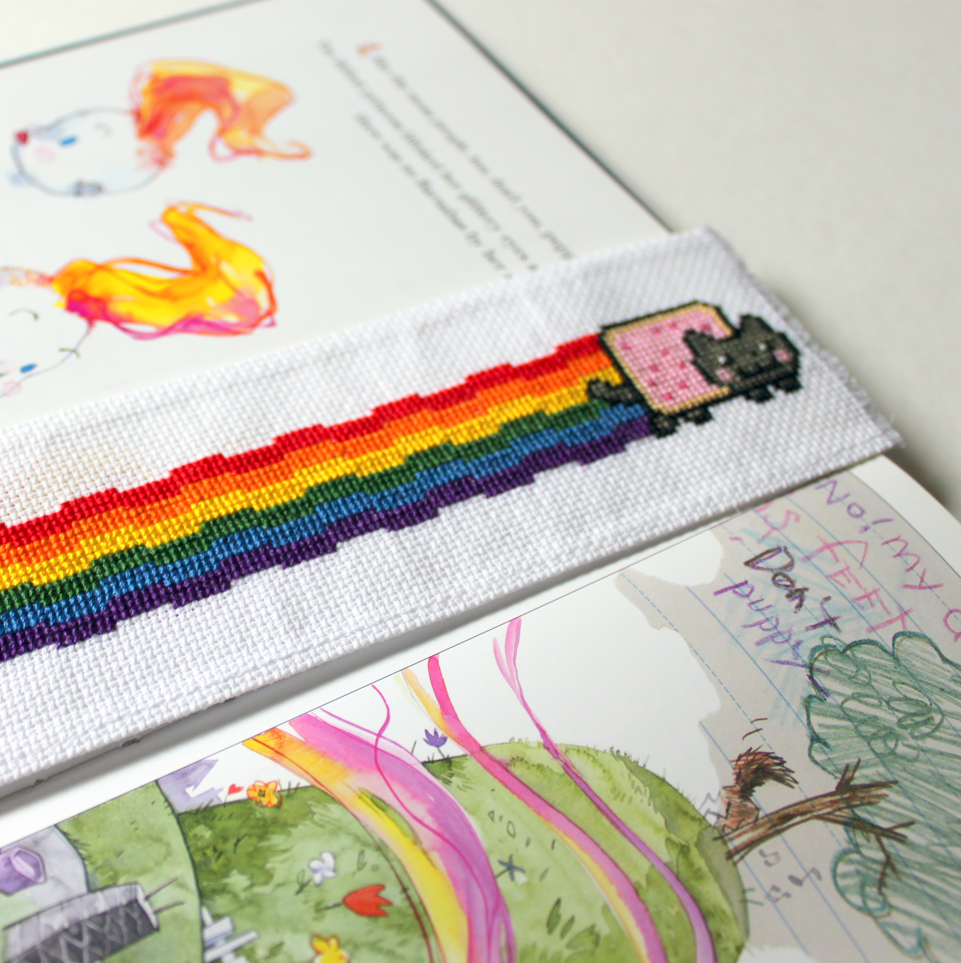 Nyan Cat Bookmark by StitchPlease