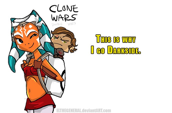 Why Darkside Clone Wars Doodle by ElTheGeneral